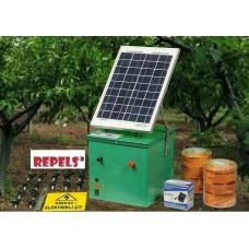 elektrischer Sonnenzaun against wild pig rabbit raccoon and others