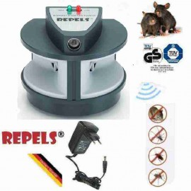 Anti Nuisibles Rats Souris et Fourmis Ultrasonic LS-927M DUO PRO-PESTREPELLER