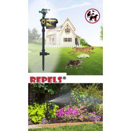 Wild Boar Repeller Sprinkler Scarecrow Water Spray Sensor Motion Battery