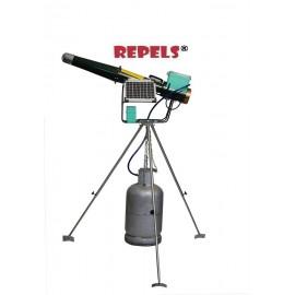 Canon Effaroucheur Bazooka Electronique Solaire et Autonome avec trépied rotatif