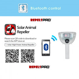R288 Solar High-Powered Ultrasonic Badger, Bird, Frog, Cat, Rock Dassies Repeller with Bluetooth